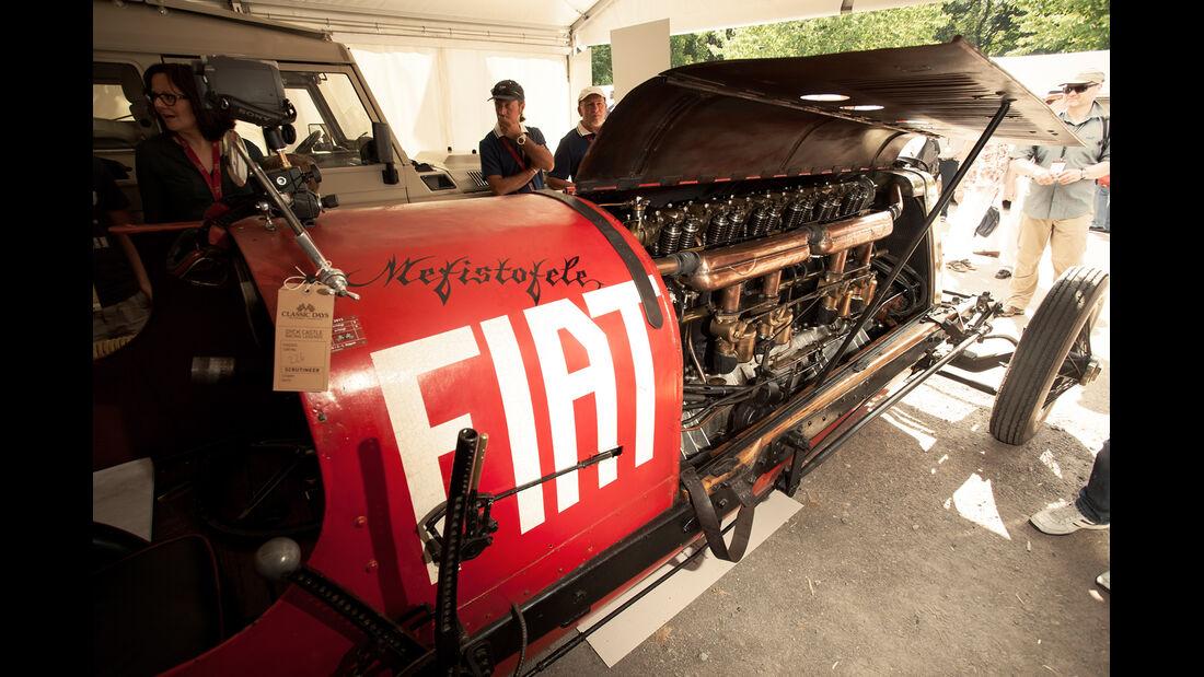 Fiat Mefistofele, Motorraum