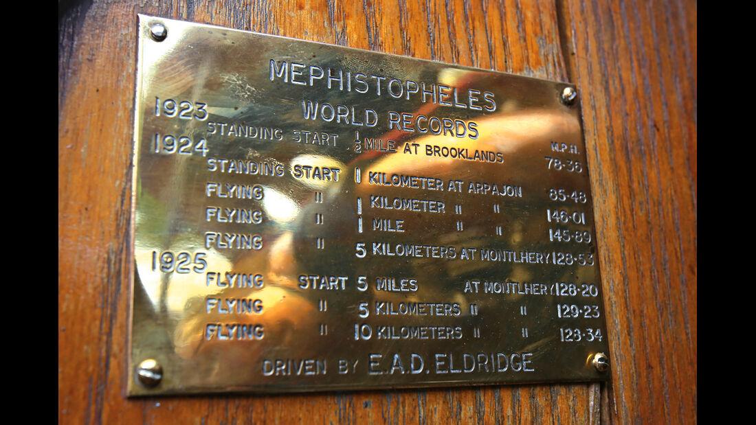 Fiat Mefistofele, Rekorde, Messingtafel