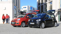 Fiat Panda 0.9 8V Natural Power Lounge, VW Up Ecofuel high up BMT, Seitenansicht