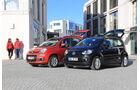 Fiat Panda 0.9 8V Natural Power Lounge, VW Up Ecofuel high up BMT, Seitenansicht