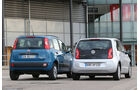 Fiat Panda 0,9 8V Natural Power, VW Eco Up, Heckansicht