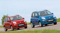 Fiat Panda 0.9 Twinair, Fiat Panda 1.2 8V, Frontansicht