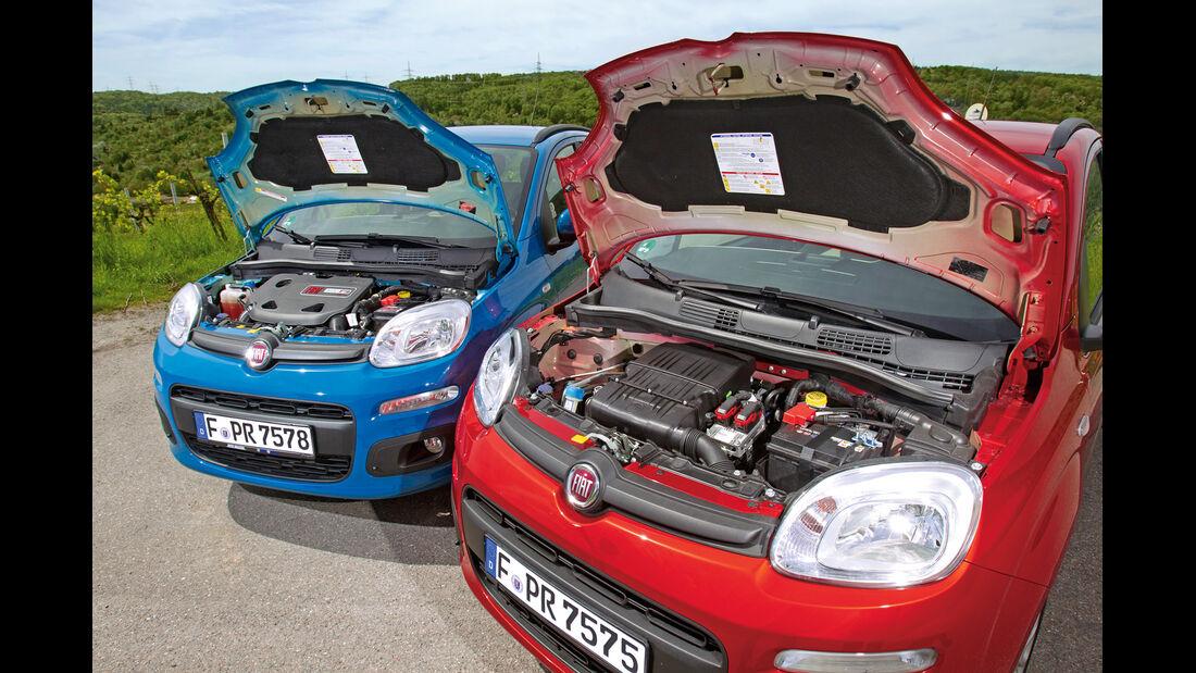Fiat Panda 0.9 Twinair, Fiat Panda 1.2 8V, Motorhaube