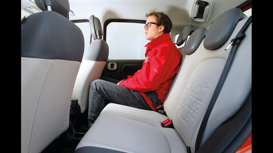 Fiat Panda 0.9 Twinair, Rücksitz, Beinfreiheit