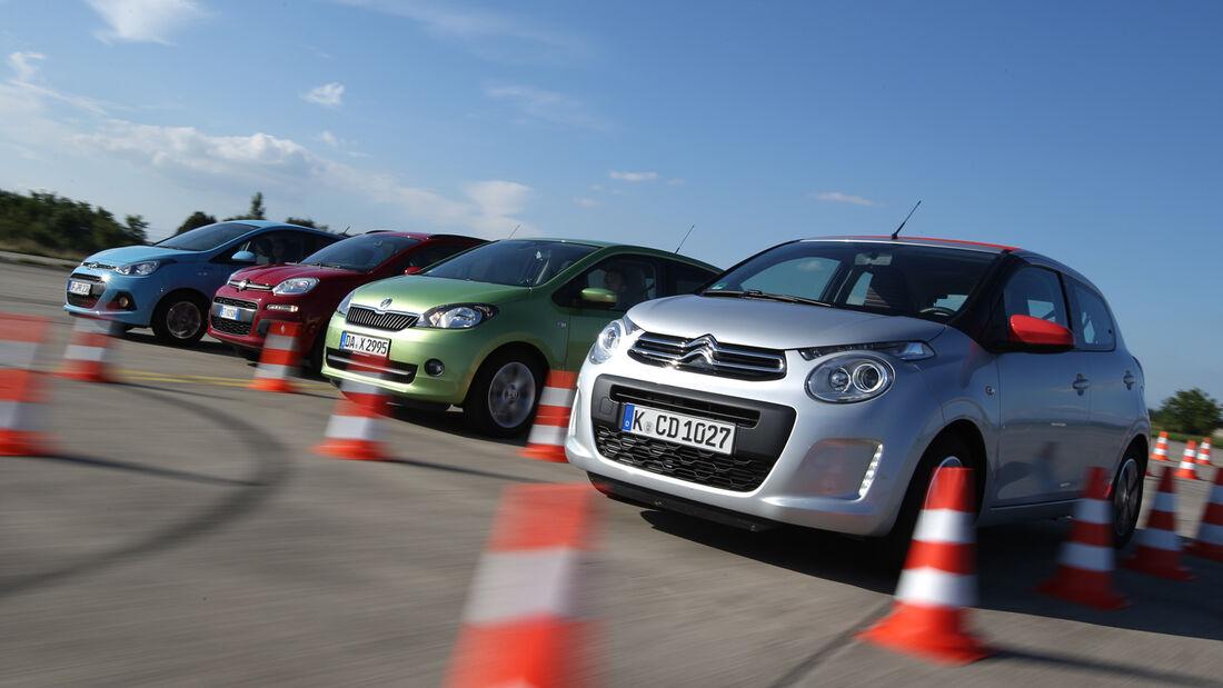 Fiat Panda 1.2 8V, Citroën C1 VTI 68, Skoda Citigo 1.0 Elegance, Hyundai i10 Blue 1.0 Trend
