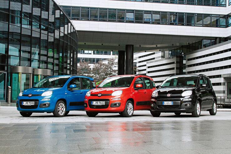 Fiat Panda 1.2 8V, Fiat Panda 0.9 8V Twinair, Fiat Panda 1.3 16V Multijet, Frontansicht