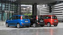 Fiat Panda 1.2 8V, Fiat Panda 0.9 8V Twinair, Fiat Panda 1.3 16V Multijet, Heckansicht