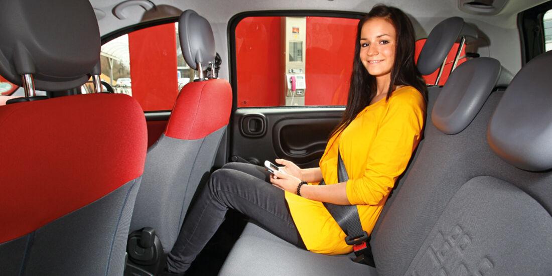 Fiat Panda 1.3 Multijet 16V Lounge, Rücksitz, Beinfreiheit