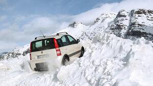 Fiat Panda 4X4, Heck, anfahren