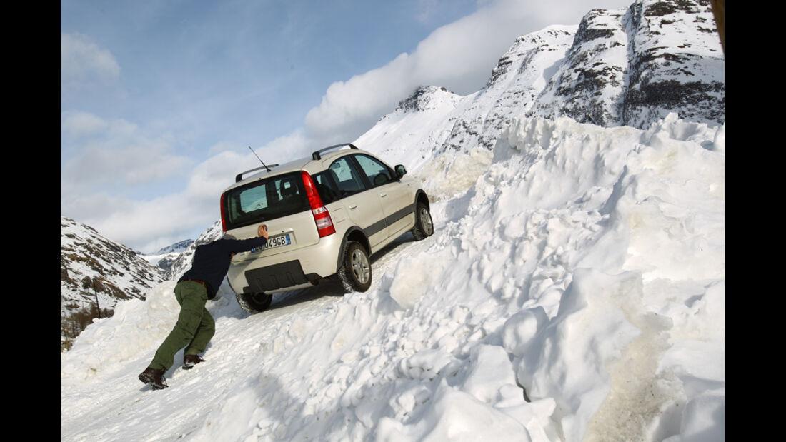 Fiat Panda 4X4, Heck, anschieben