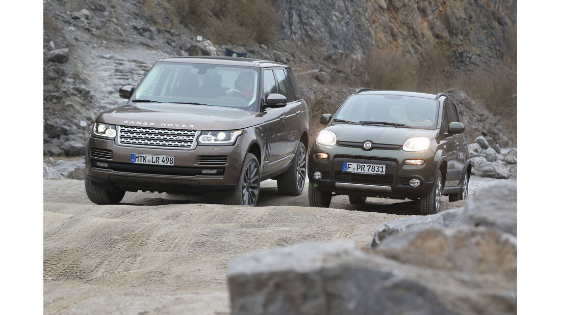 Fiat Panda 4x4, Range Rover, Frontansicht