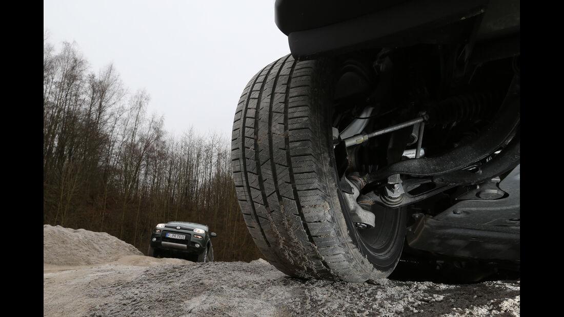 Fiat Panda 4x4, Range Rover, Gelände