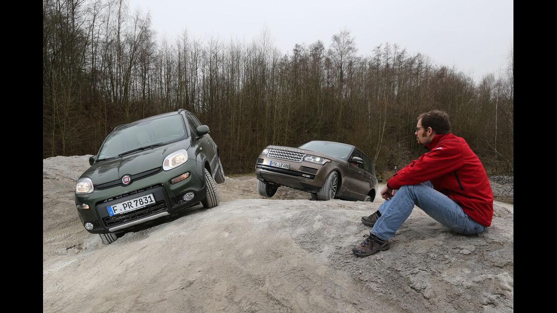 Fiat Panda 4x4, Range Rover, Sebastian Renz