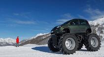 Fiat Panda Bigfoot, Seitenansicht, Gelände