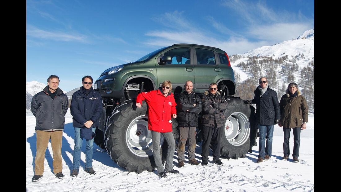 Fiat Panda Bigfoot, Seitenansicht, Team