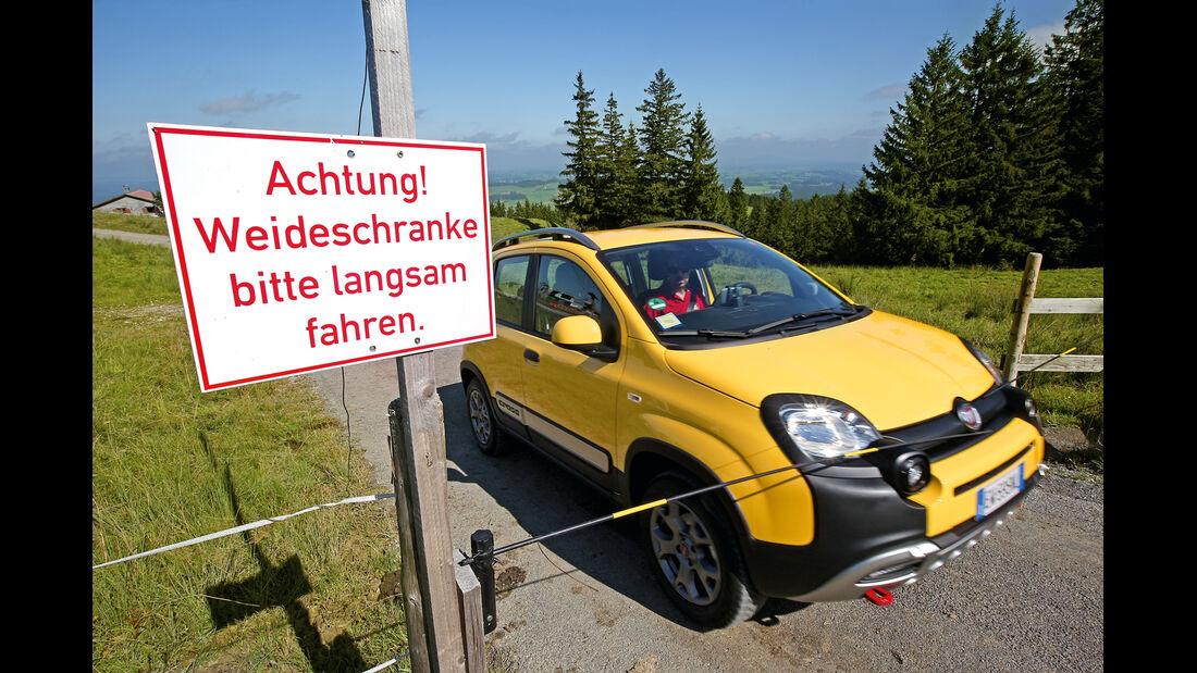 Fiat Panda Cross, Almabtrieb, Impression