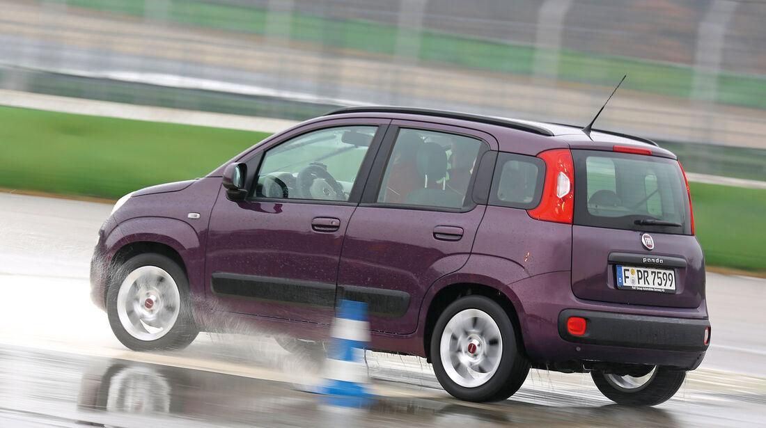 Fiat Panda, Heckansicht, Slalom