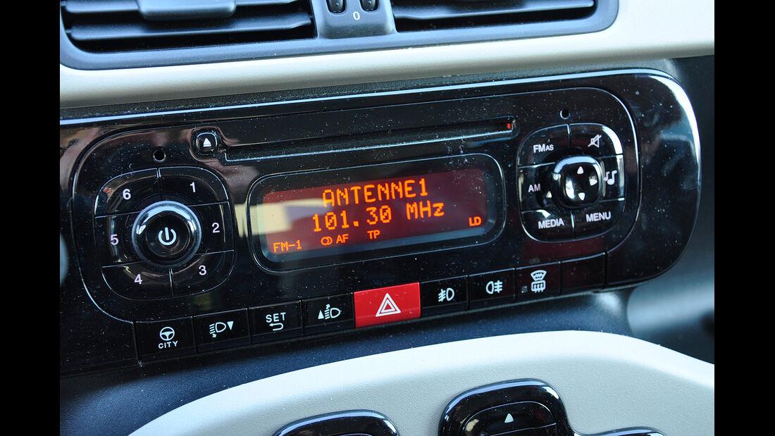 Fiat Panda, Innenraum, Audioanlage