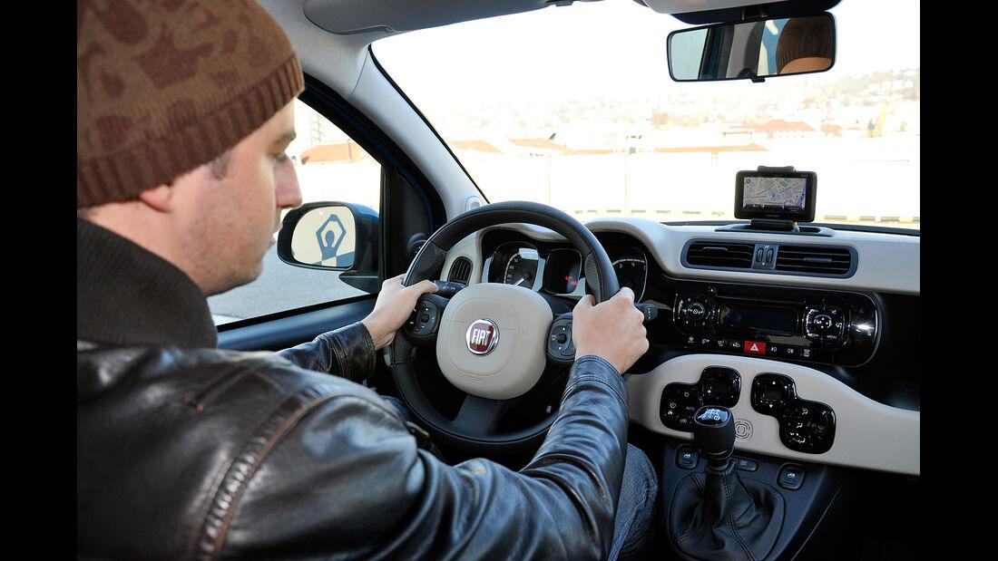 Fiat Panda, Innenraum, Cockpit, Lenkrad