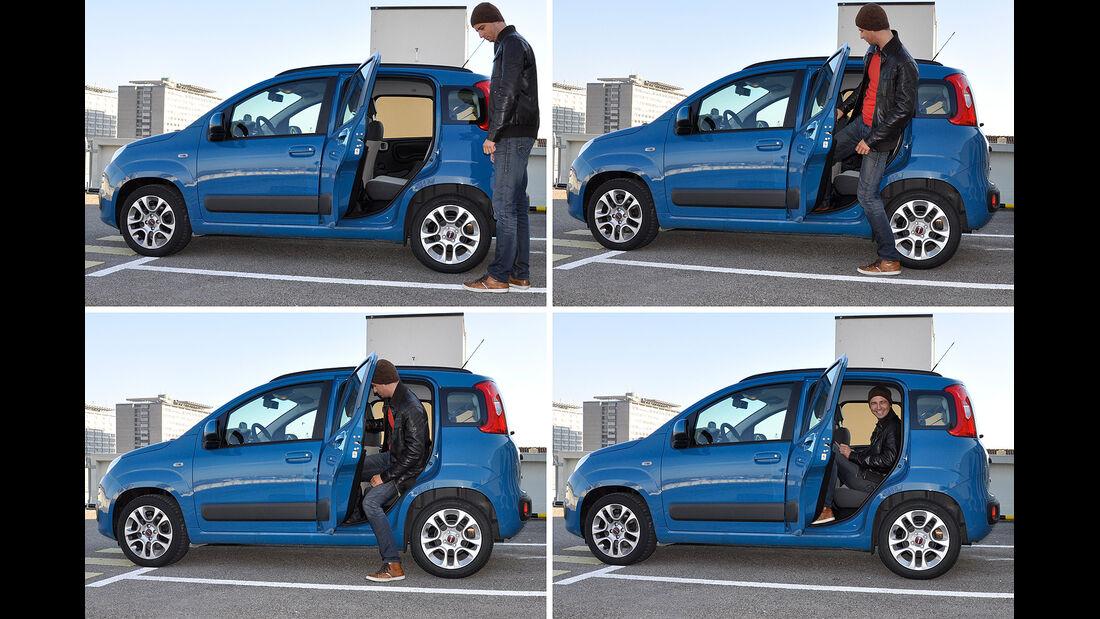 Fiat Panda, Innenraum, Fond, Einstieg