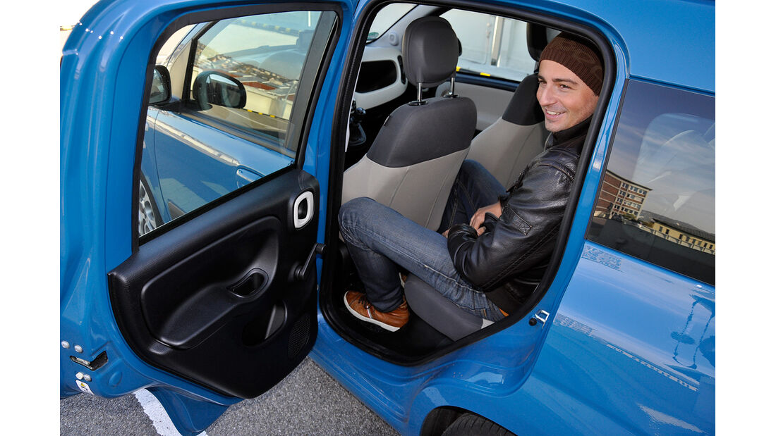 Fiat Panda, Innenraum, Fond, Rückbank