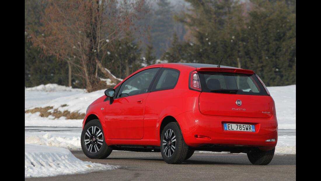Fiat Punto 0,9 Twinair Start&Stopp Easy, Heck, Kurve