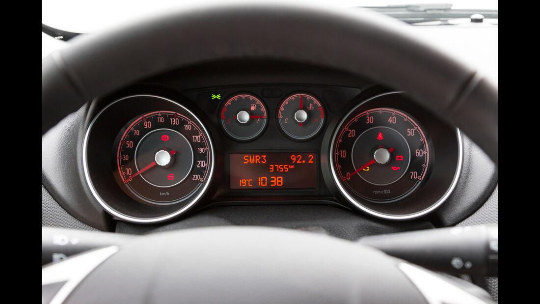 Fiat Punto 0,9 Twinair, Tacho, Rundinstrumente