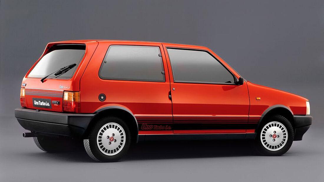 Fiat Uno Turbo, Seitenansicht