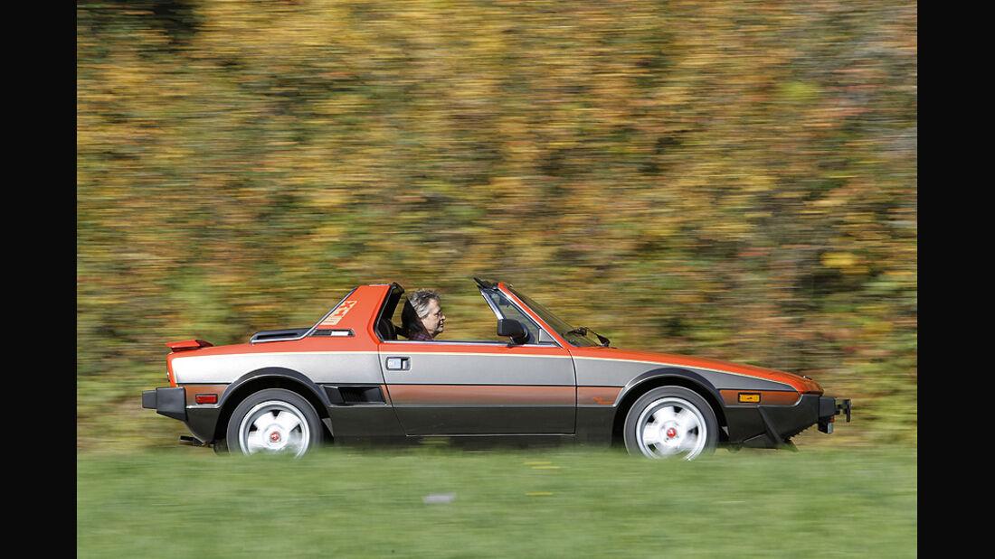 Fiat X 1/9, Seitenansicht