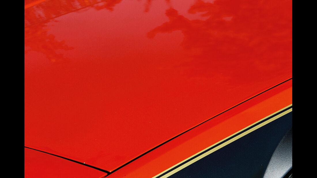 Fiat X 1/9, Teil der Motorhaube, Detail