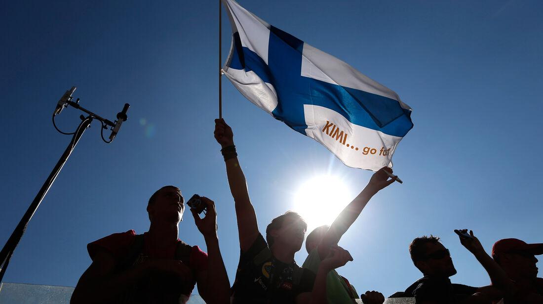 Finnische Fans - GP Ungarn 2013