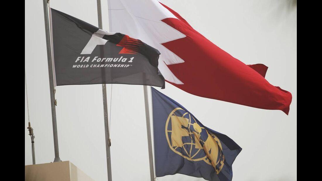Flaggen - Formel 1 - GP Bahrain - 21. April 2012
