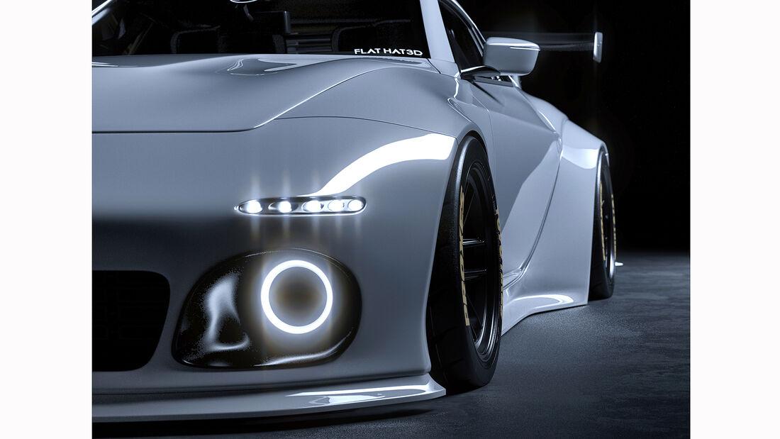 Flat Hat 3D Nissan Z Proto Widebody Slantnose