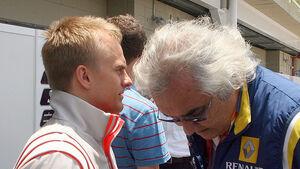 Flavio Briatore, Heikki Kovalainen