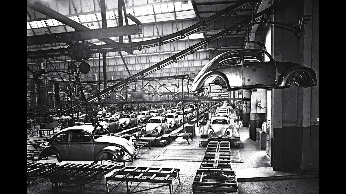 Fließband, VW-Werk, Käfer, Wolfsburg