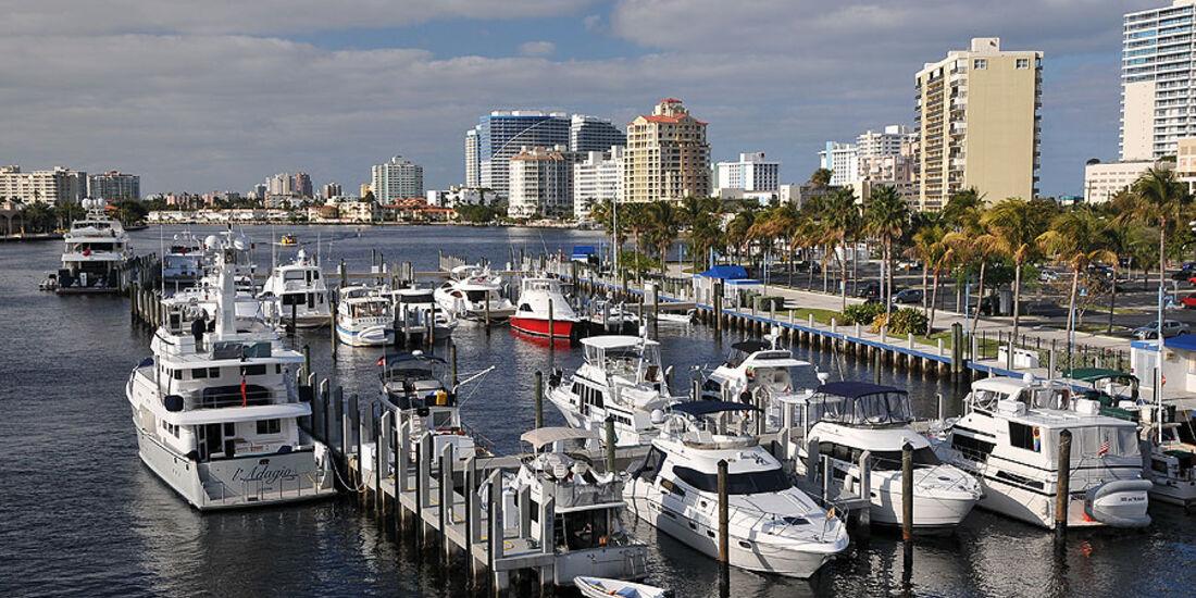 Florida mit BMW X5, Yachthafen
