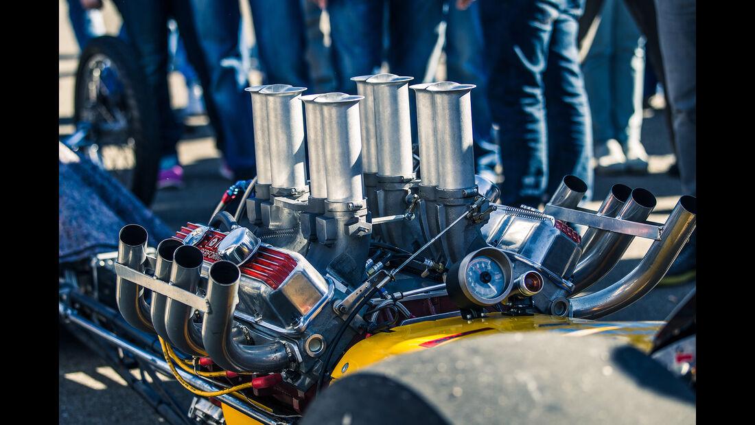 Flugplatzblasen 2016, Dragster, Motor, V8