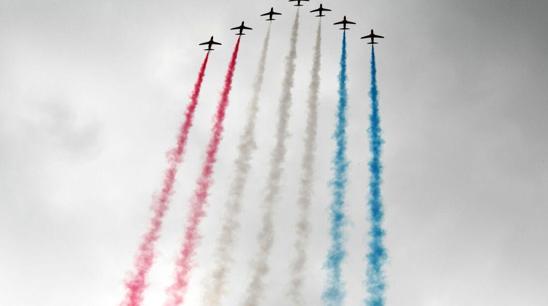 Flugzeuge GP England Silverstone 2012