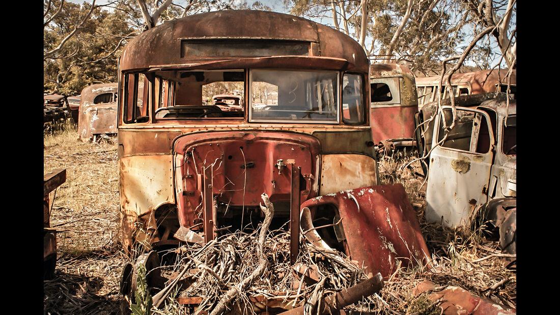 Flynn's Wrecking Yard,  Autofriedhof, Impression, Australien