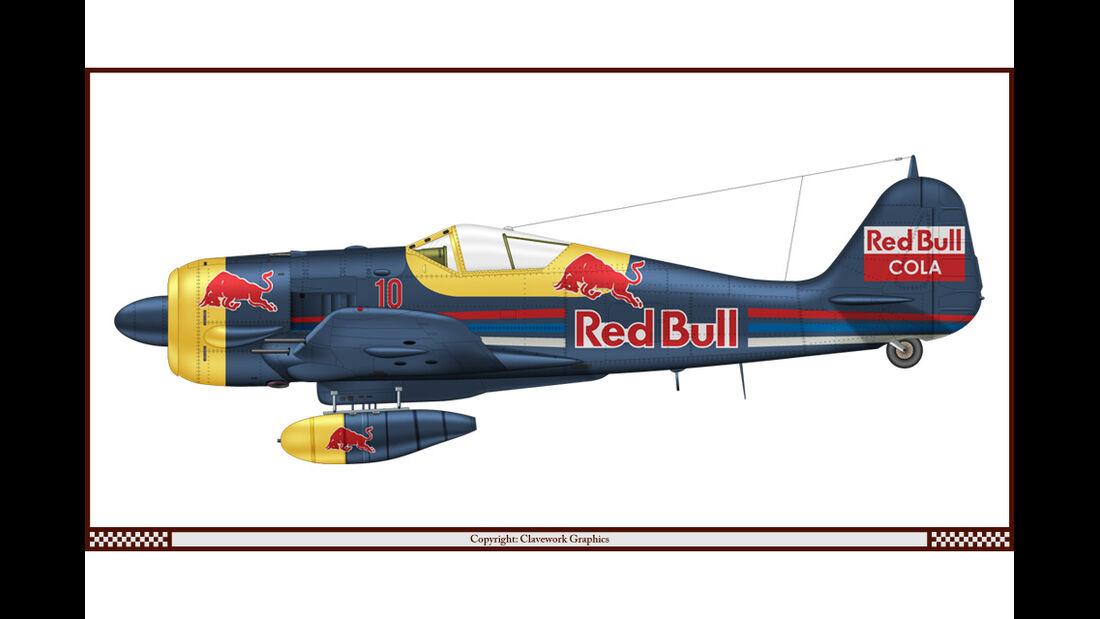Focke-Wulf 190 - Red Bull - Racing-Planes - 2015