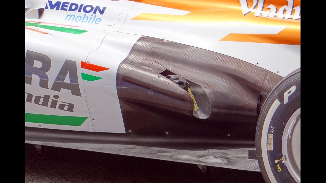 Force India Auspuff - Formel 1 - GP Bahrain - 18. April 2013