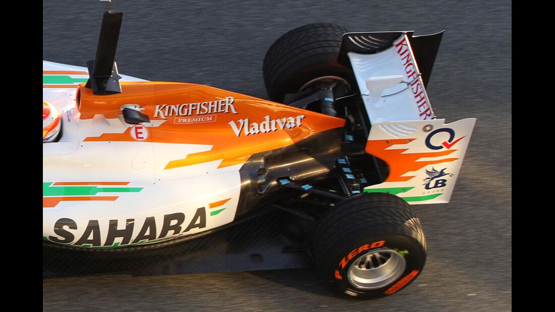 Force India Auspuff Jerez Test 2012