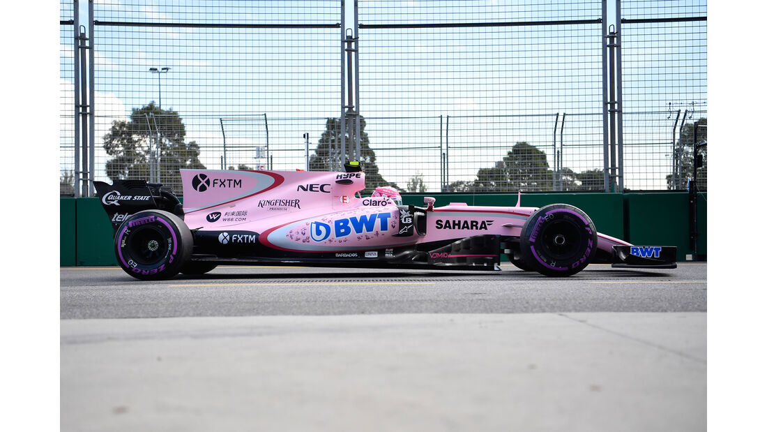 Force India - F1-Abmessungen - 07/2017
