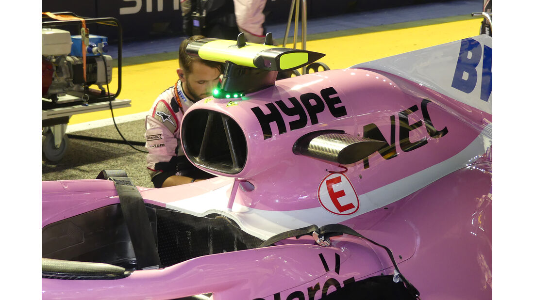 Force India - F1-Technik - Lüfter - GP Singapur 2018