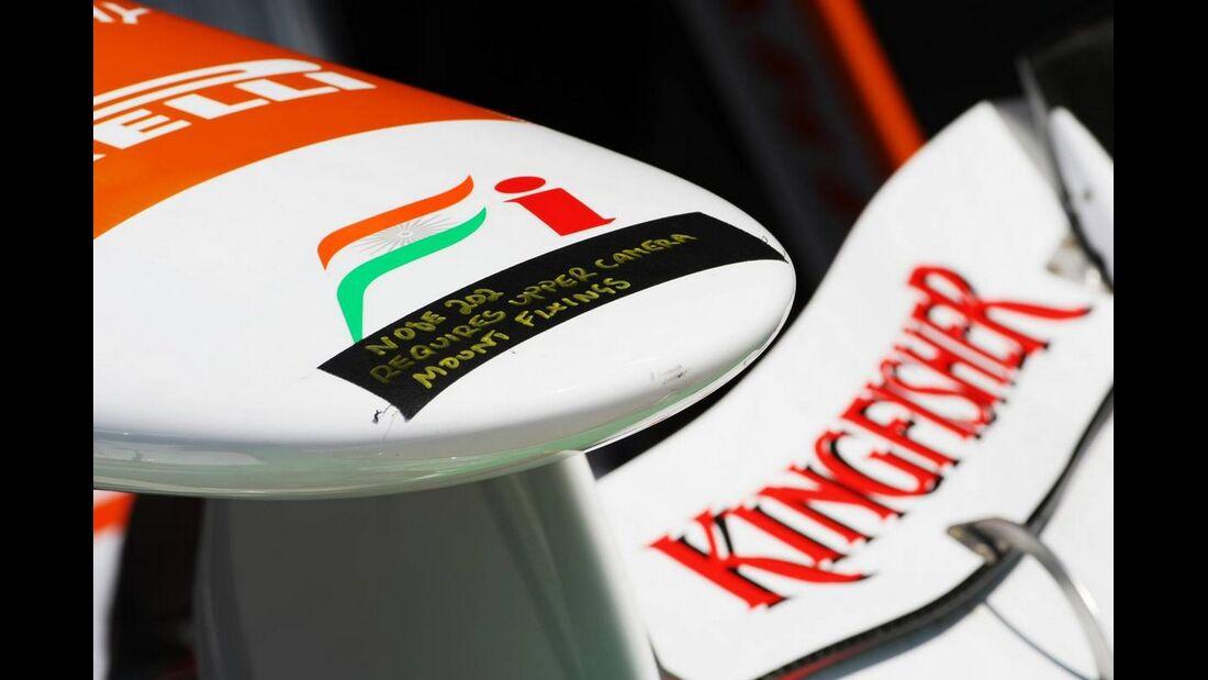 Force India Flügel - Formel 1 - GP Italien - 6. September 2012