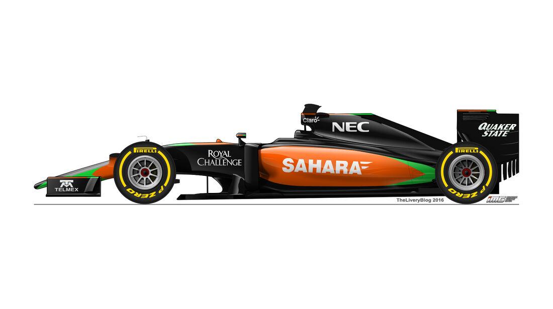 Force India - Formel 1 Design Concepts 2016