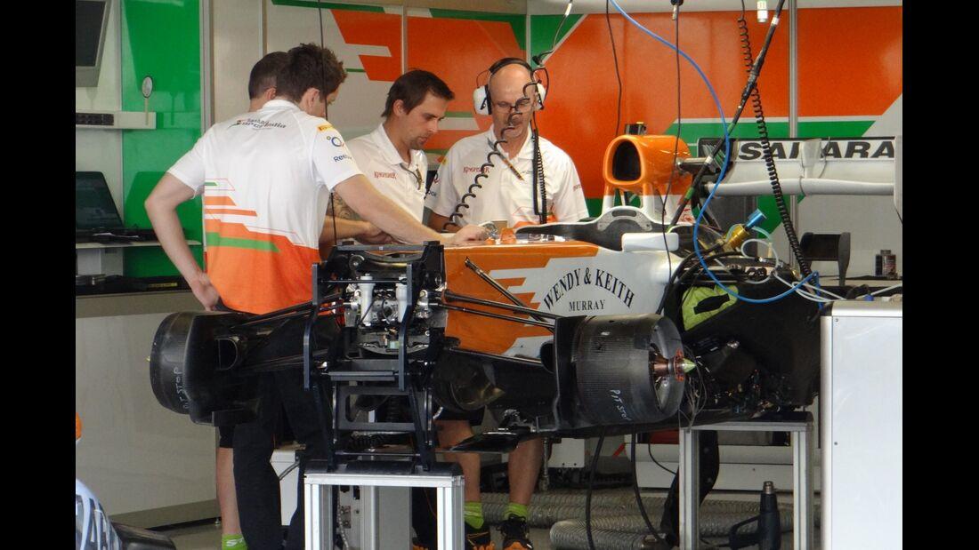 Force India  - Formel 1 - GP Abu Dhabi - 01. November 2012