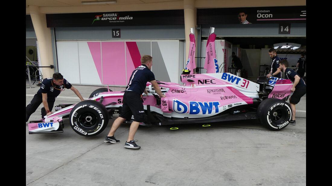 Force India - Formel 1 - GP Bahrain - 5. April 2018