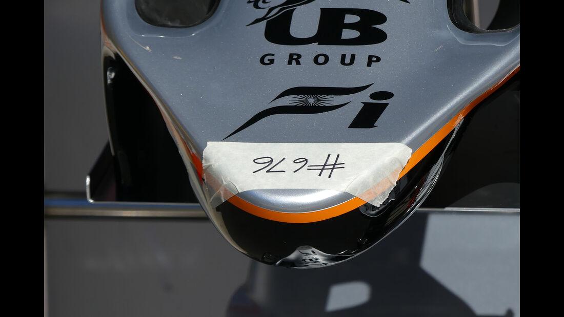 Force India - Formel 1 - GP Belgien - 24. August 2016