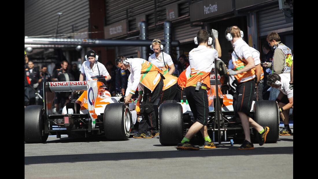 Force India - Formel 1 - GP Belgien - Spa-Francorchamps - 1. September 2012